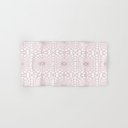 Velvety String Lace in Pastel Pink Hand & Bath Towel