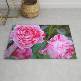 Pink Roses by Lika Ramati Rug