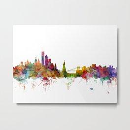 New York Skyline Cityscape Metal Print