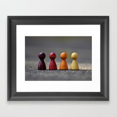 -WOODEN - COLORED - PINS Framed Art Print