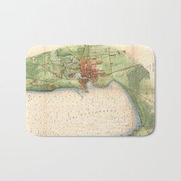 Vintage Map of Plattsburgh New York (1872) Bath Mat