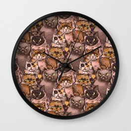 all cats in the world Wall Clock