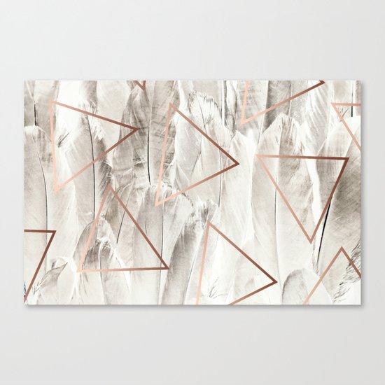 Feathers & Copper #society6 #decor #buyart Canvas Print