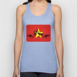 Vietnam Flag, Roosters Sparring Unisex Tank Top