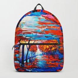 Tardis Art Tree Blossom Backpack