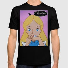 Alice in Wonderland Cocaine Attitude Mens Fitted Tee Black 2X-LARGE