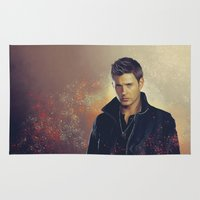 dean winchester Area & Throw Rugs featuring Dean Winchester - Supernatural by KanaHyde