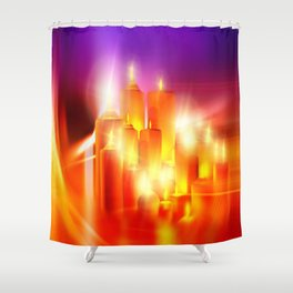 Kerzenschein Shower Curtain