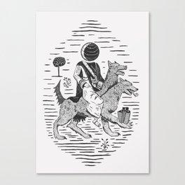 Tapelkap Canvas Print