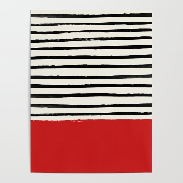 Red Chili x Stripes Poster