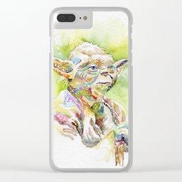 Yoda The Jedi Master Clear iPhone Case