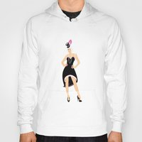 burlesque Hoodies featuring Burlesque Woman by Anca Avram