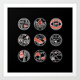 blurry icons II Art Print