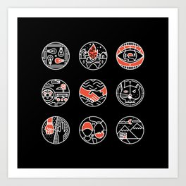 blurry icons II Art Print