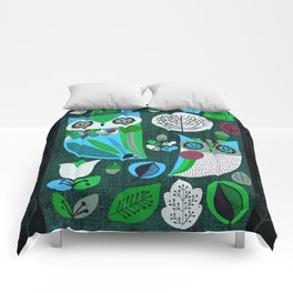 Night Owls Retro Pattern Comforters