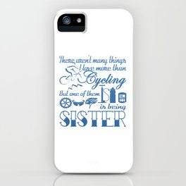 Cycling Sister iPhone Case