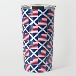 Mix of flag: usa and scotland Travel Mug