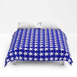 Blue White Stars Design Comforters