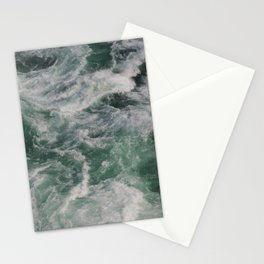Waves In Niagara Falls | Landscape Photography | Minimalism | Water | Sea Waves | Green Ocean Waves Stationery Cards