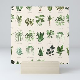 A collection for plant lovers urban seamless pattern Mini Art Print
