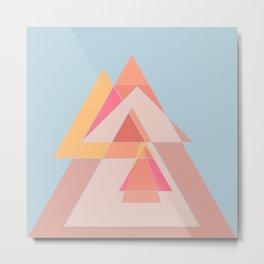 Geometric shapes dancing Metal Print