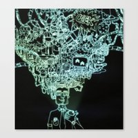 geek Canvas Prints featuring GEEK by taniavisual