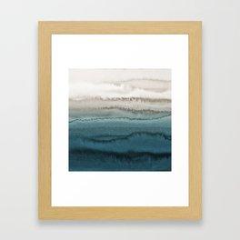 WITHIN THE TIDES - CRASHING WAVES TEAL Framed Art Print