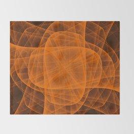 Eternal Rounded Cross in Orange Brown Throw Blanket