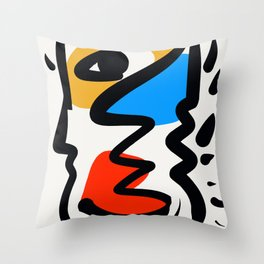 P was in my head ??? Throw Pillow