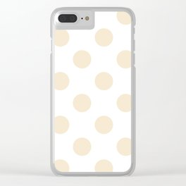 Large Polka Dots - Champagne Orange on White Clear iPhone Case