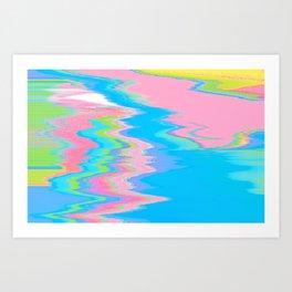 Neon Spill Abstract Art Print