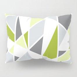 Geometric Pattern in Lime, Yellow, Gray Pillow Sham