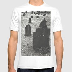 tombstones White MEDIUM Mens Fitted Tee
