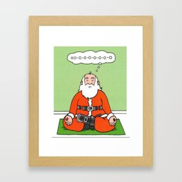 Meditating Santa Christmas Shirt Framed Art Print