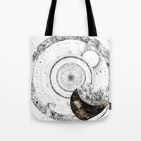 astrology Tote Bags featuring astrology lapse by Carolina Arévalo