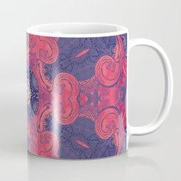mandala 8 red blue #mandala Coffee Mug