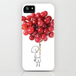 Boy with grapes - NatGeo version iPhone Case