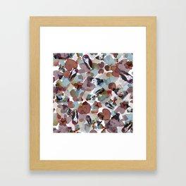 Girls on blossoms Framed Art Print