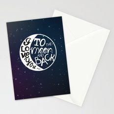I LOVE YOU to the MOON and BACK! Stationery Cards