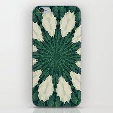 Tropical Sacramento Green and Silver Leaf Mandala iPhone & iPod Skin