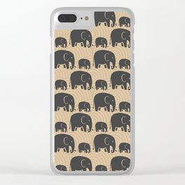 Elephant Earth Clear iPhone Case