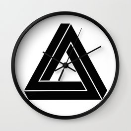 Impossible Geometry Triangle Modern Minimalism Wall Clock