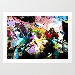At your service (surreal/ music/ hip hop) Art Print