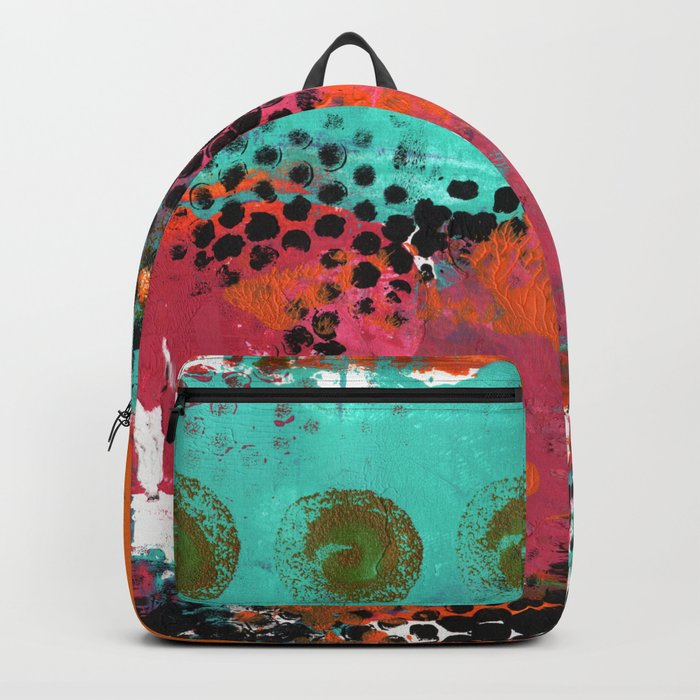 Original Abstract Grunge Painted  Art Backpack