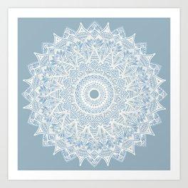 The Sunflower (gray-bue) Art Print