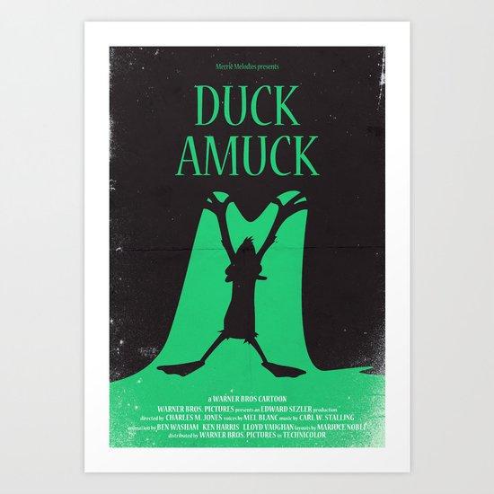 Duck Amuck Art Print