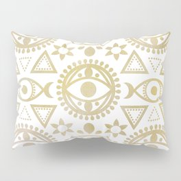 Geometric Evil Eye Metallic Pillow Sham