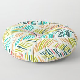 Beautiful Bohemian Boho Chic Multicolor Feather Pattern Floor Pillow
