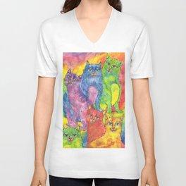 Rainbow cats Unisex V-Neck