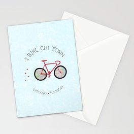 Chicago, Illinois by I Bike Stationery Cards